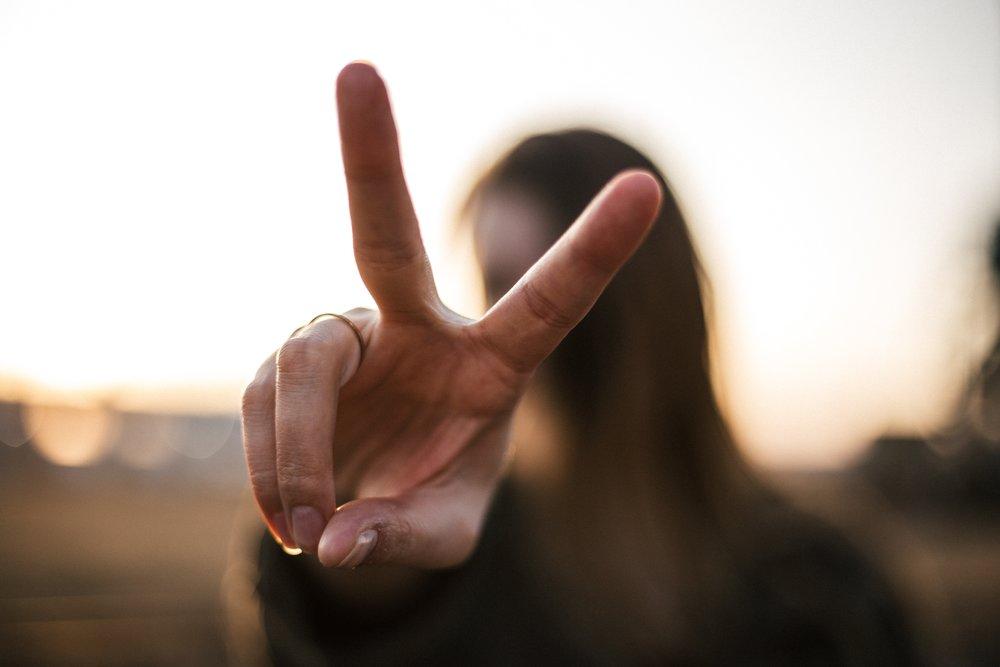 Peace! Photo by: Photo by  Priscilla Du Preez  on  Unsplash