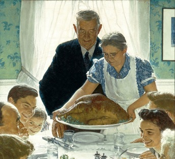 Norman Rockwell's image of prosperity