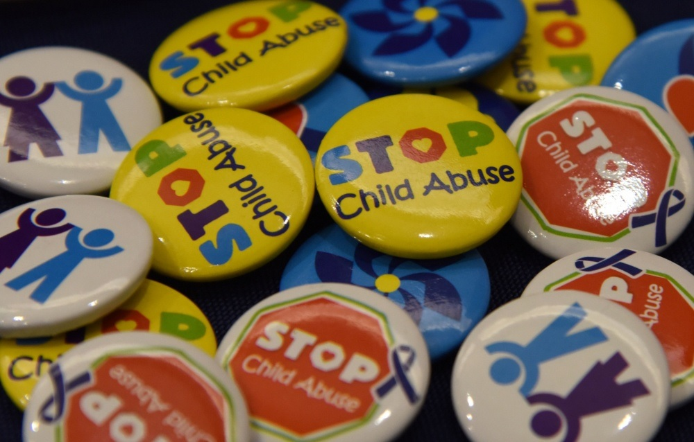 Stop Child Abuse Buttons