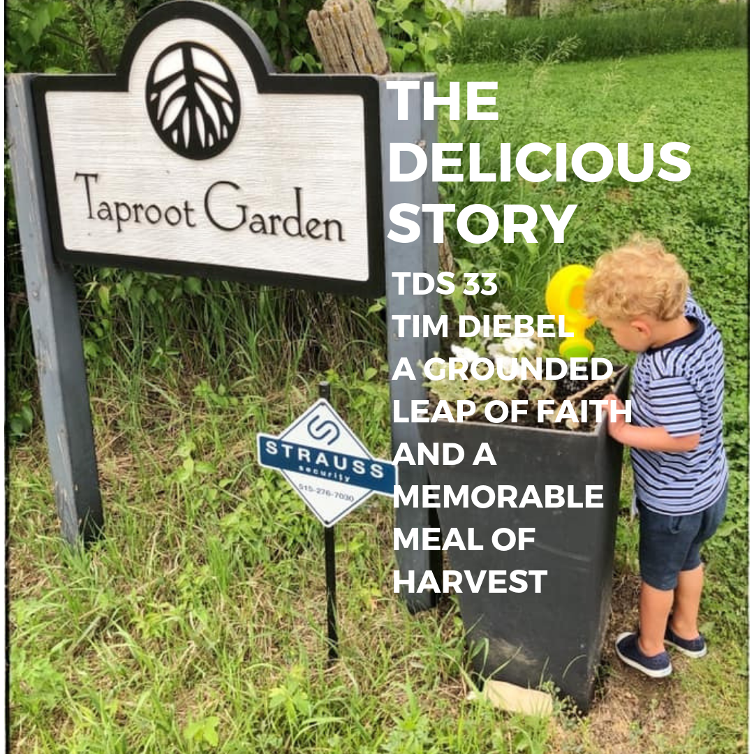 Taproot Garden Sign on a lovely summer day.