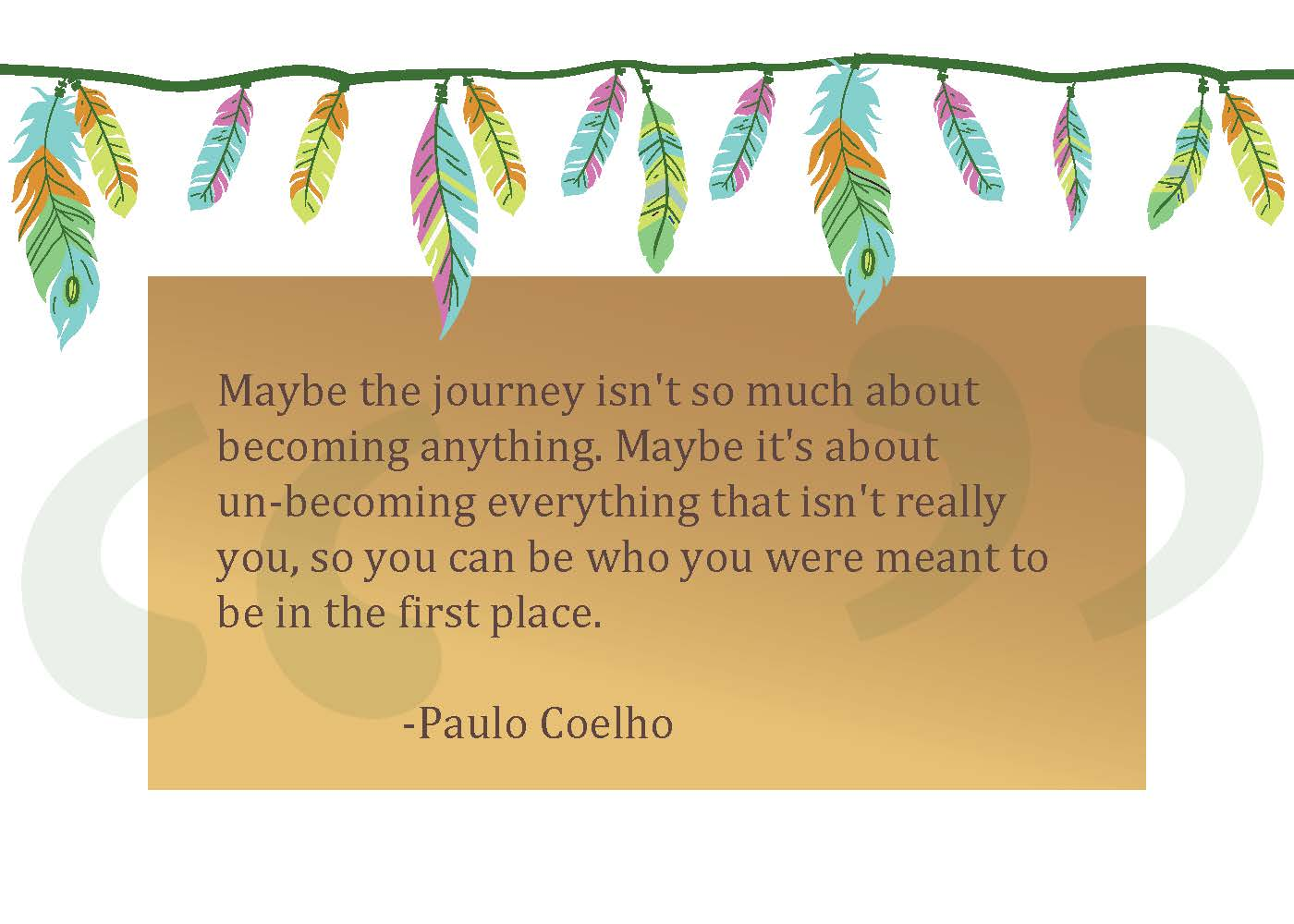 Storied Gifts postcard with quote about journey