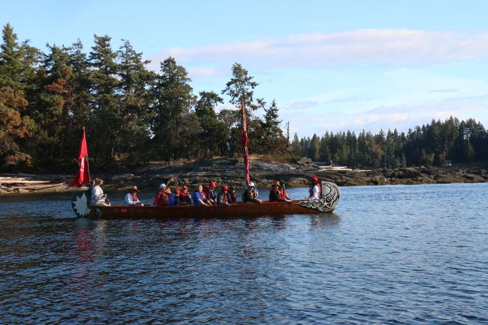 Canoe in the Salish Sea