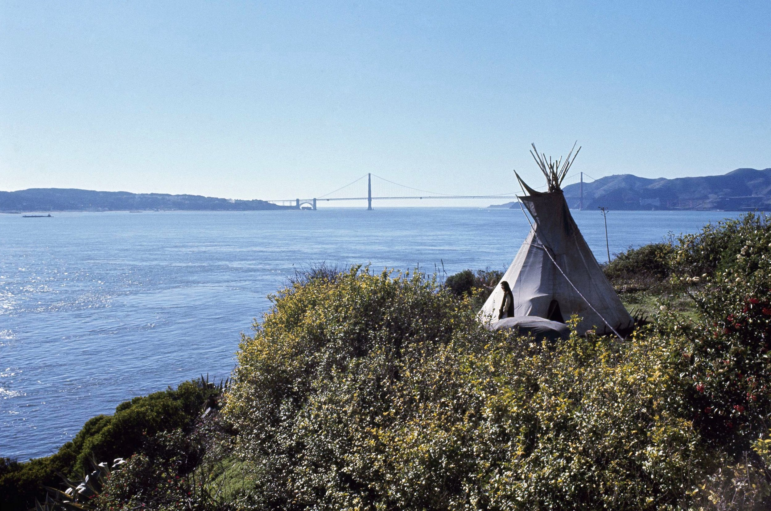 """""""This tiny island would be a symbol of the great lands once ruled by free and noble Indians."""" - — INDIANS OF ALL TRIBES"""