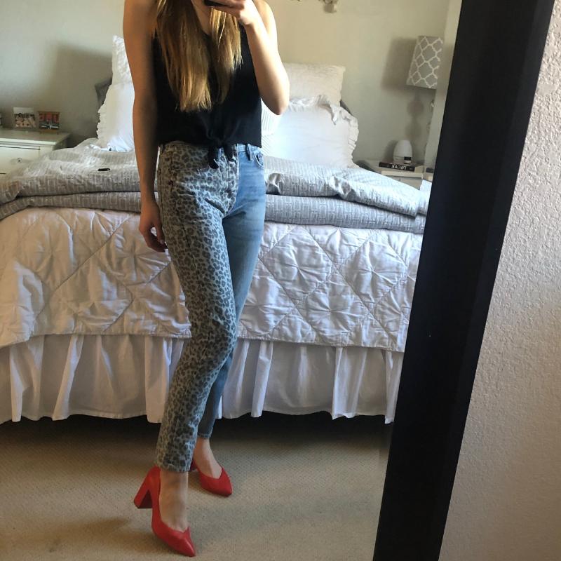 GRLFRND Karolina High-Rise Skinny Jean in Tom Cat,