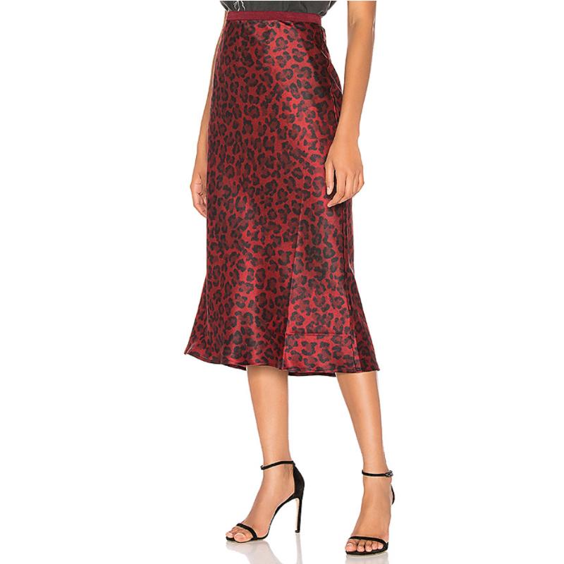 Annie Bing Bar Silk Midi Skirt