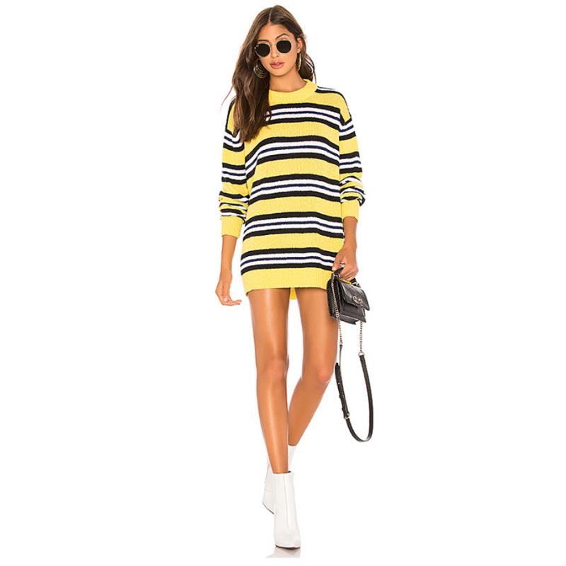 Tularosa Robbins Sweater in Yellow Stripe