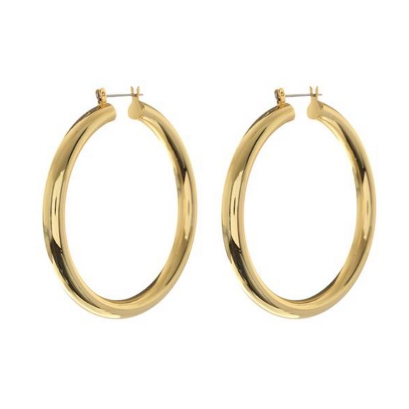 Luv AJ   Amalfi Tube Hoops - Gold