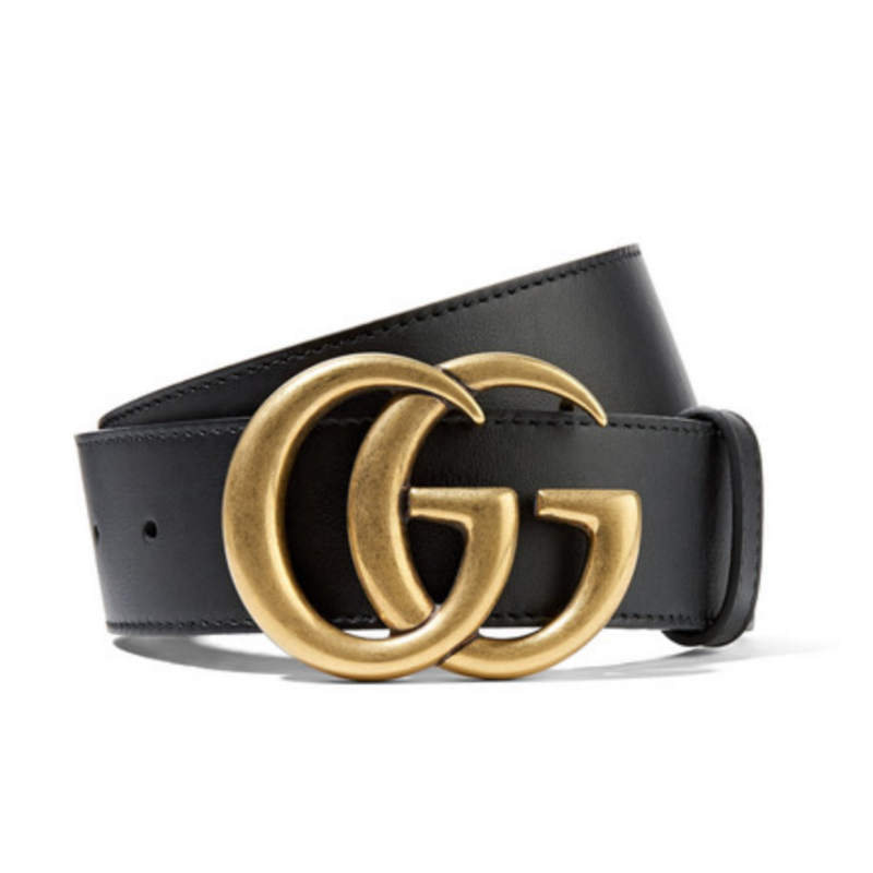 Gucci Leather Double G Belt