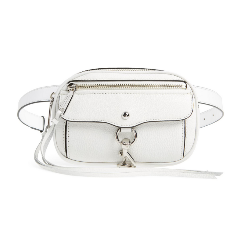 Rebecca Minkoff Blythe Leather Belt Bag in White
