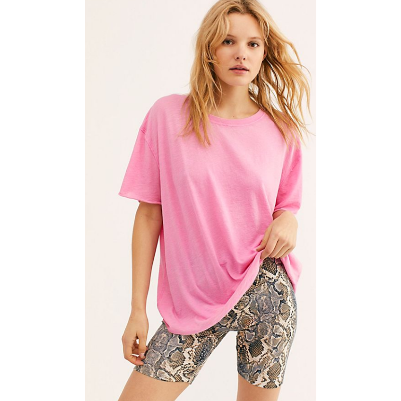 Free People We The Free Clarity Ringer T-Shirt in Brightest Orchid
