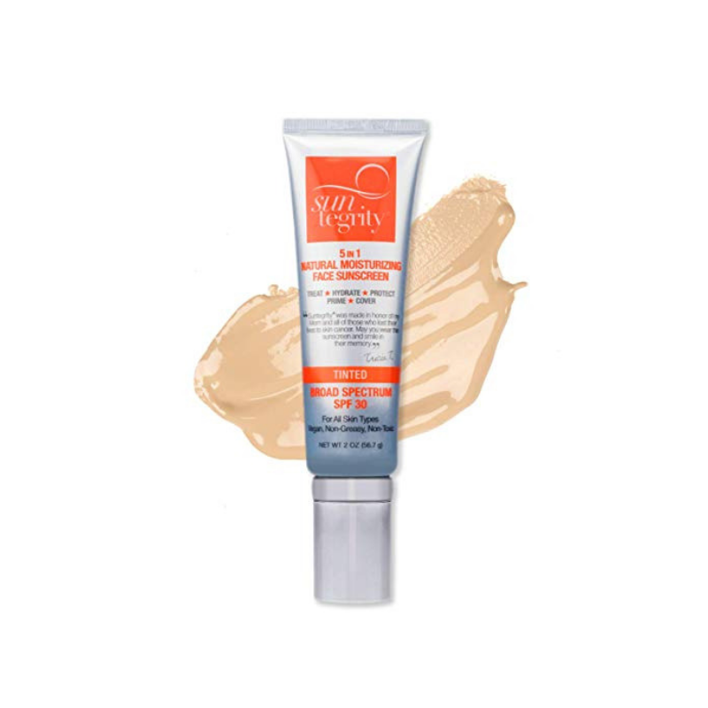"Suntegrity Tinted ""5 in 1"" Natural Moisturizing Face Sunscreen"