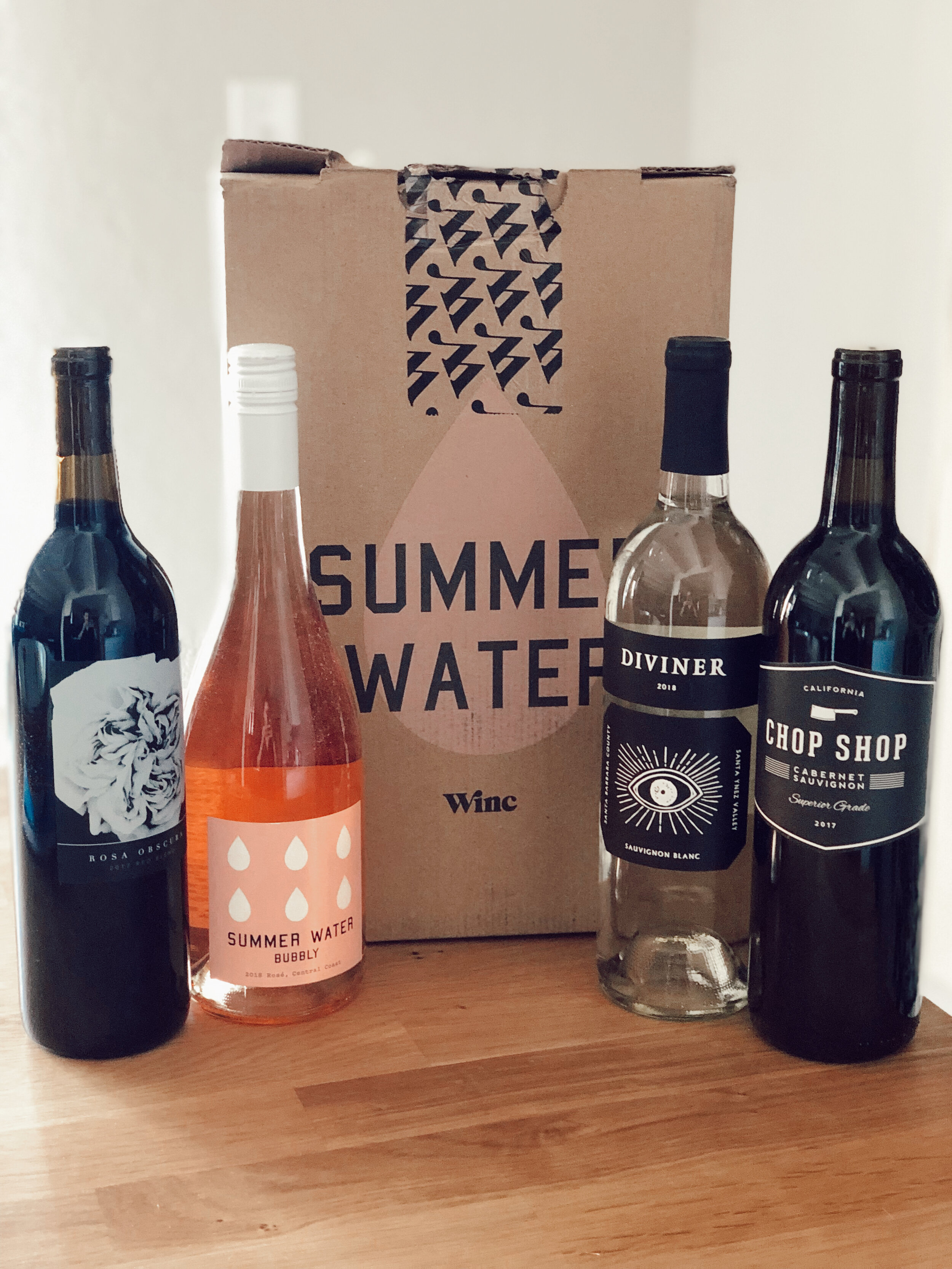 My first order of wines.
