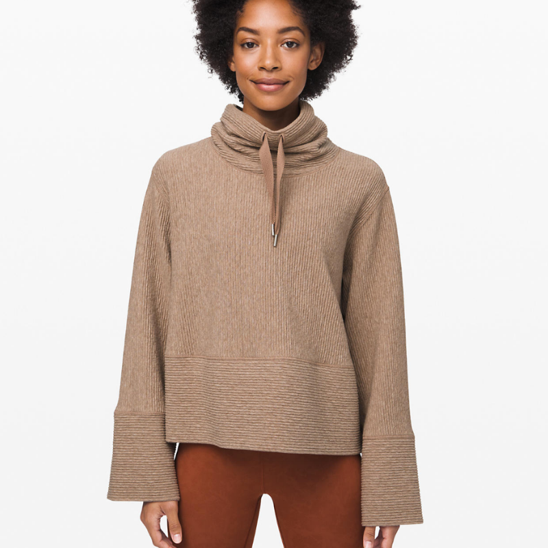 Lululemon Retreat Yourself Pullover in Heathered Soft Sand