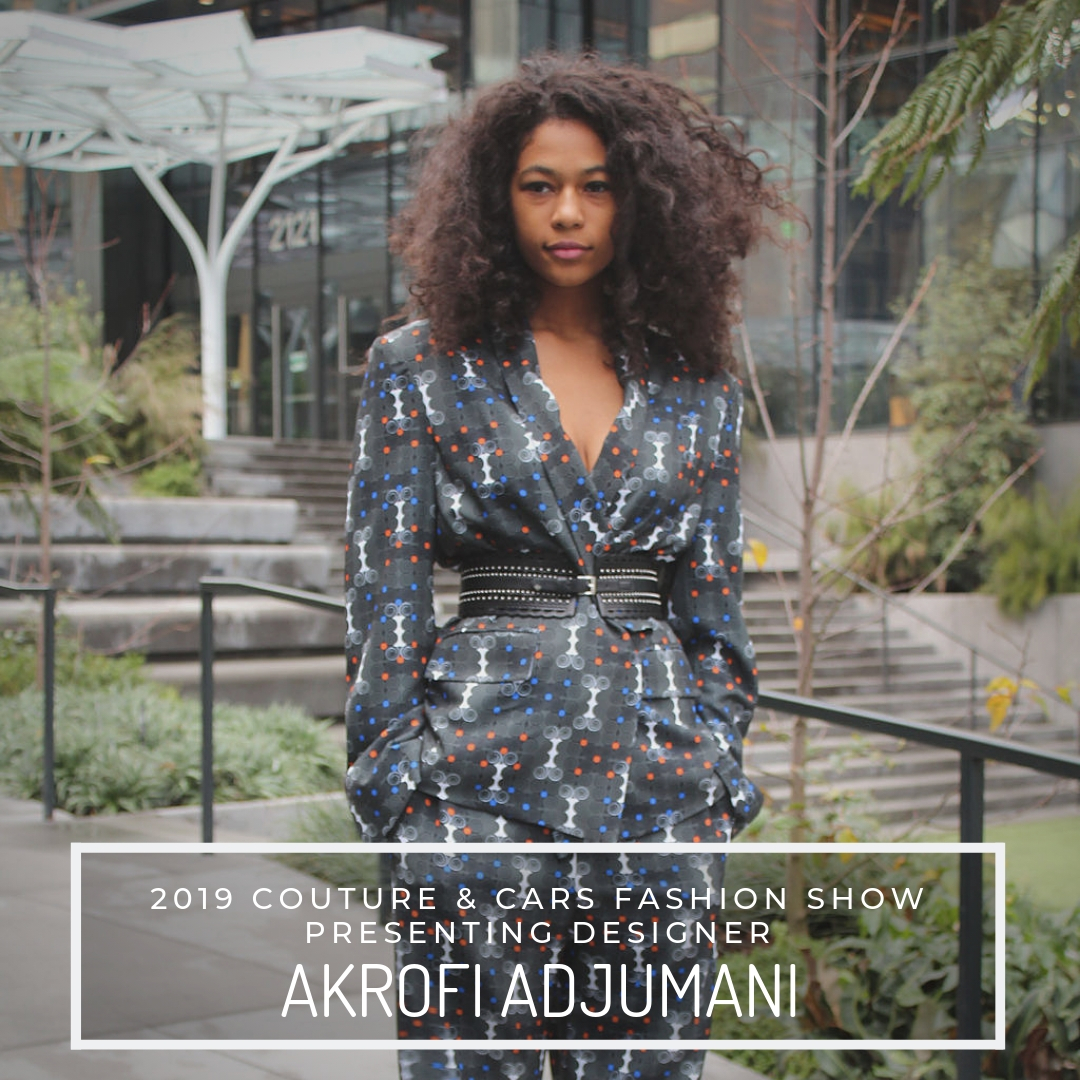 AKROFI ADJUMANI - Akrofi Adjumani is a Seattle-based Ghanaian designer whose line of clothes, bags & accessories is based on a creative blend of African inspired and Western aesthetic. Akrofi Adjumani's multicultural designs are inspired by nature, architecture, and his homeland, Ghana, and its culture. His products bring together a vibrant palette, traditional Ghanaian symbols, and sophisticated, tailored pieces.Website: https://akrofiadjumani.com/Facebook: @AdjumaniDesignsInstagram: @akrofiadjumani