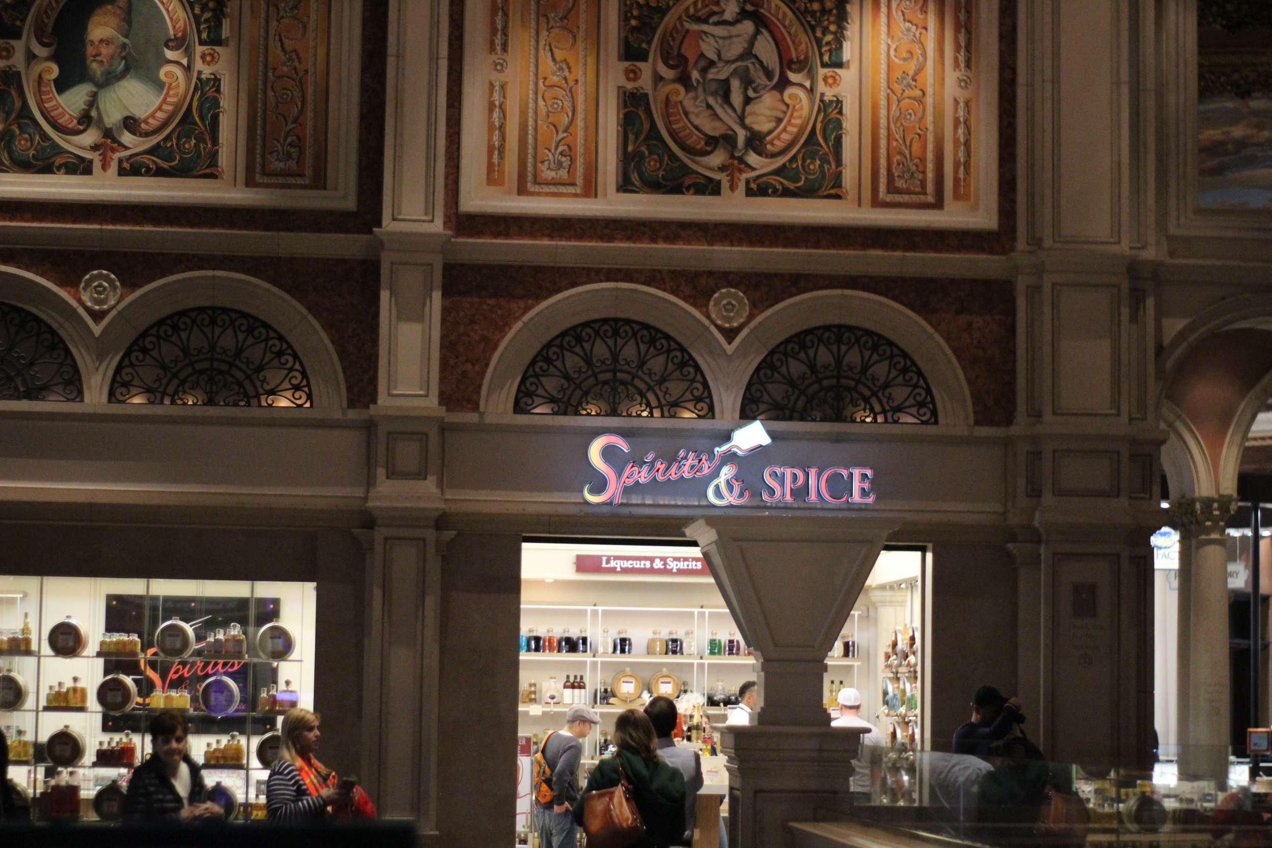 Spirits & Spice at the Venetian Grand Canal Shoppes, 3377 S. Las Vegas Blvd, located between TAO Bistro and It's Sugar.