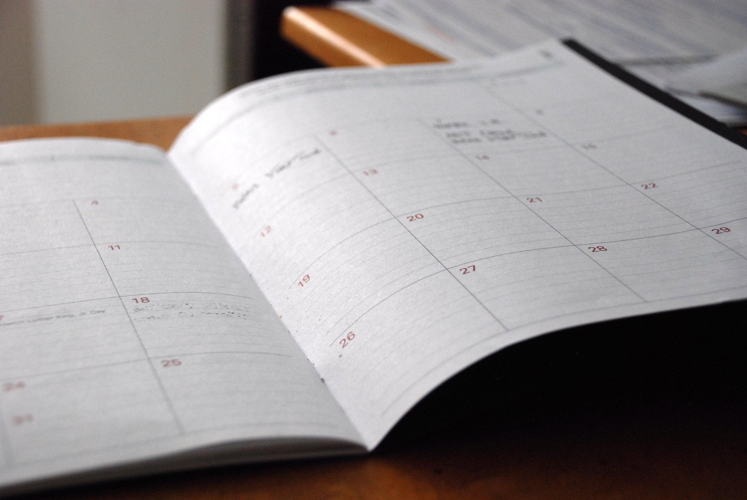 SCHEDULE - Timeline