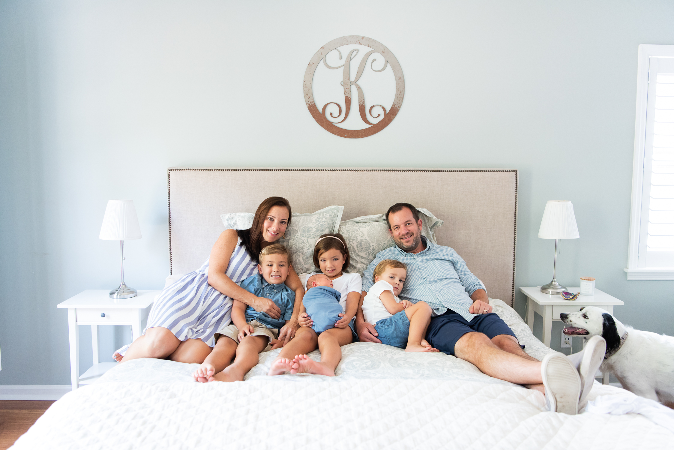 Family portrait newborn session Charleston by Reese Moore Photography