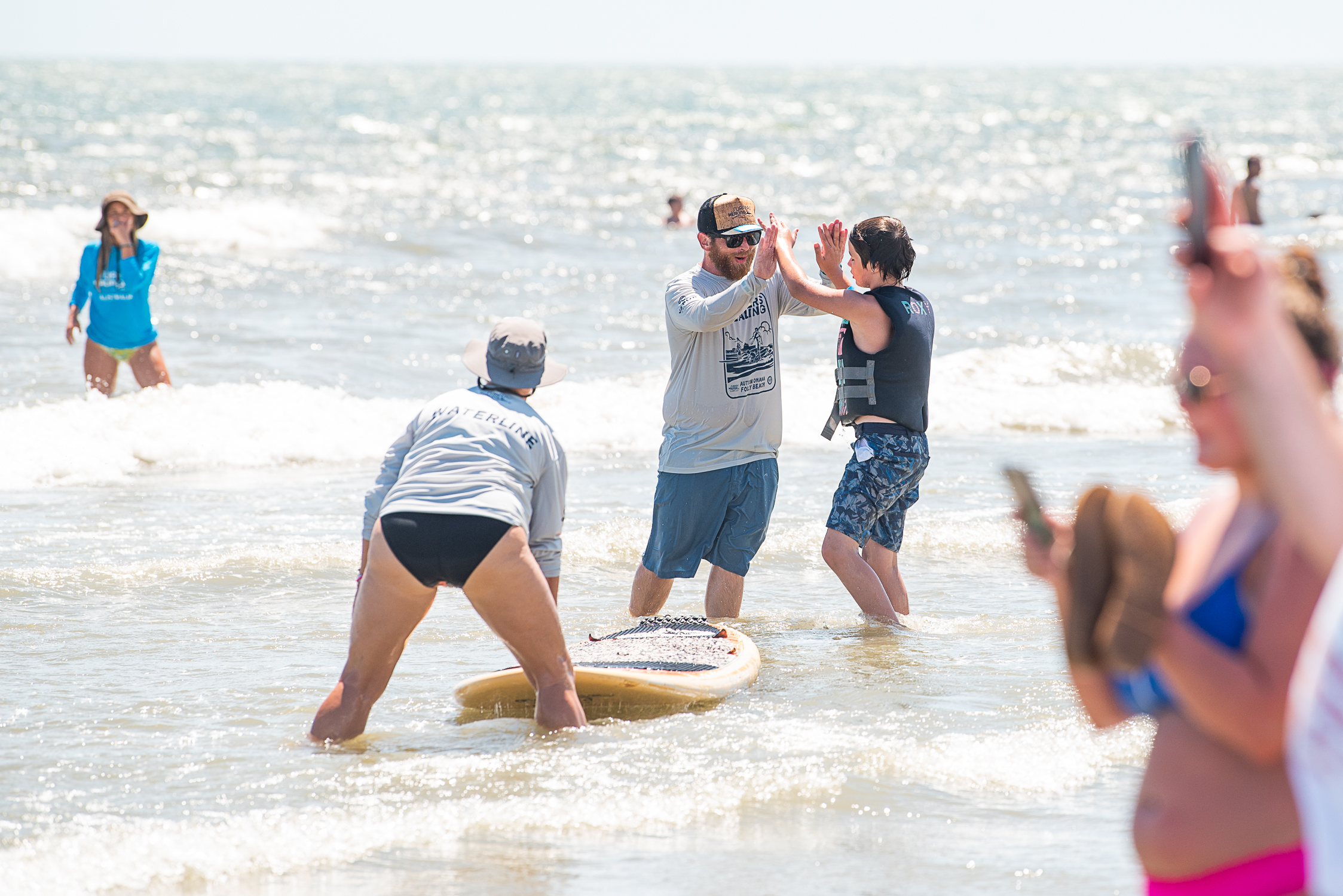 Surfers Healing Folly Beach, SC by Reese Moore Photography