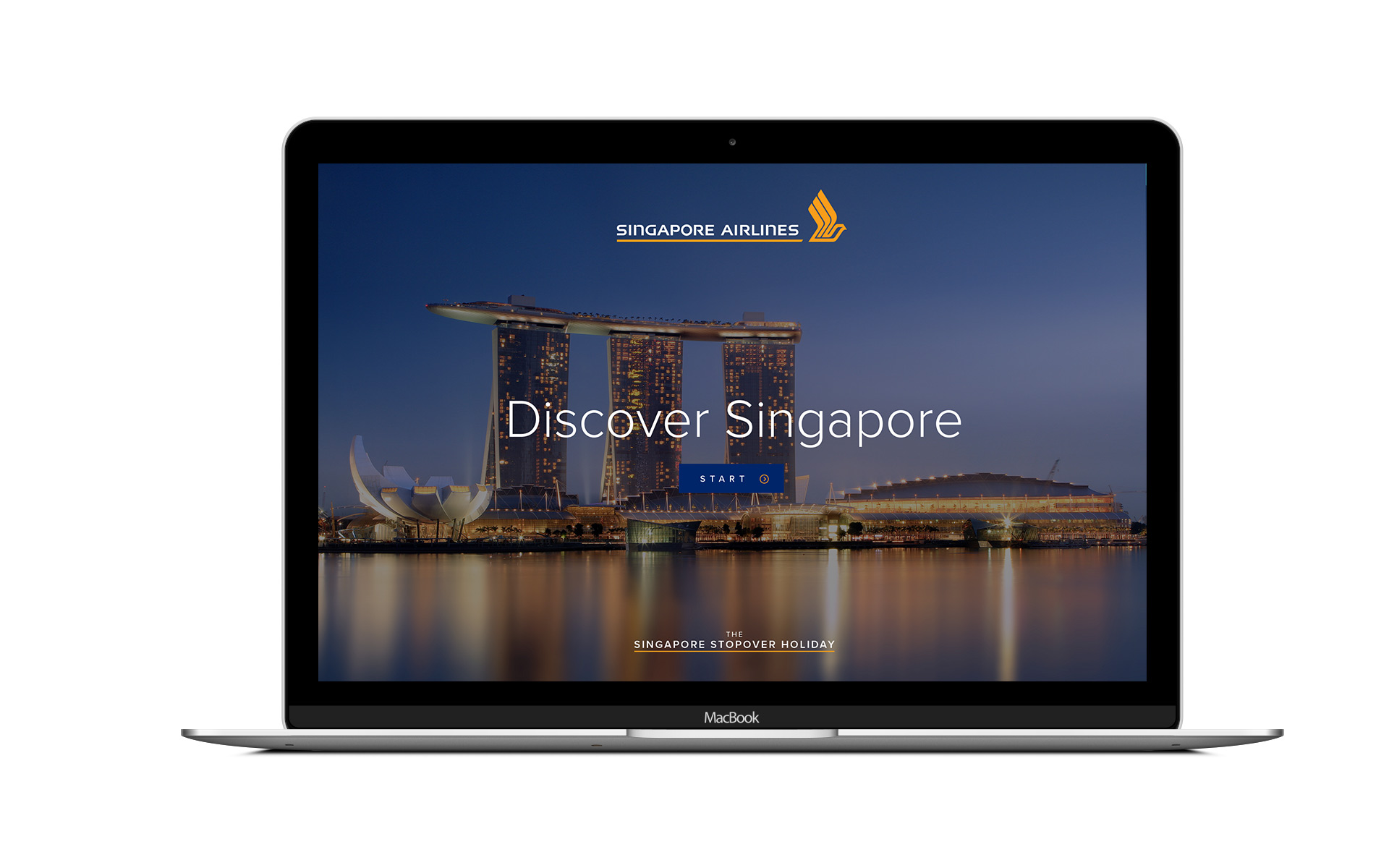 Homepage of Singapore Airlines campaign case study