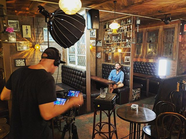 Day 1 in the can and a cool location to close out the day. @button_bar  #bts #buttonbar #spiritsandcocktails #campaign #branddesign #production