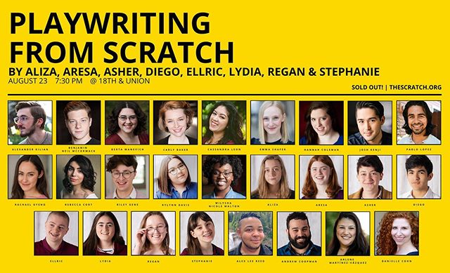 Our Playwriting from Scratch 10-minute play readings are sold out! Congratulations to our amazing eight young writers. Walkups are welcome to join the waitlist.  Learn More | www.thescratch.org/playwritingfromscratch Donate | www.bit.ly/TheScratchFundraiser2019