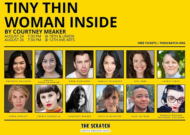 Our fifth show begins tomorrow! Tiny Thin Woman Inside explores the relationship women have with their bodies, media representations of weight loss, queer dating while fat, and general anxiety about the violence inherent in trying to fit into a societal norm of size.  Free Tickets | https://tinythinwomeninside.bpt.me  Learn More | www.thescratch.org/tinythinwomaninside  Donate | www.bit.ly/TheScratchFundraiser2019
