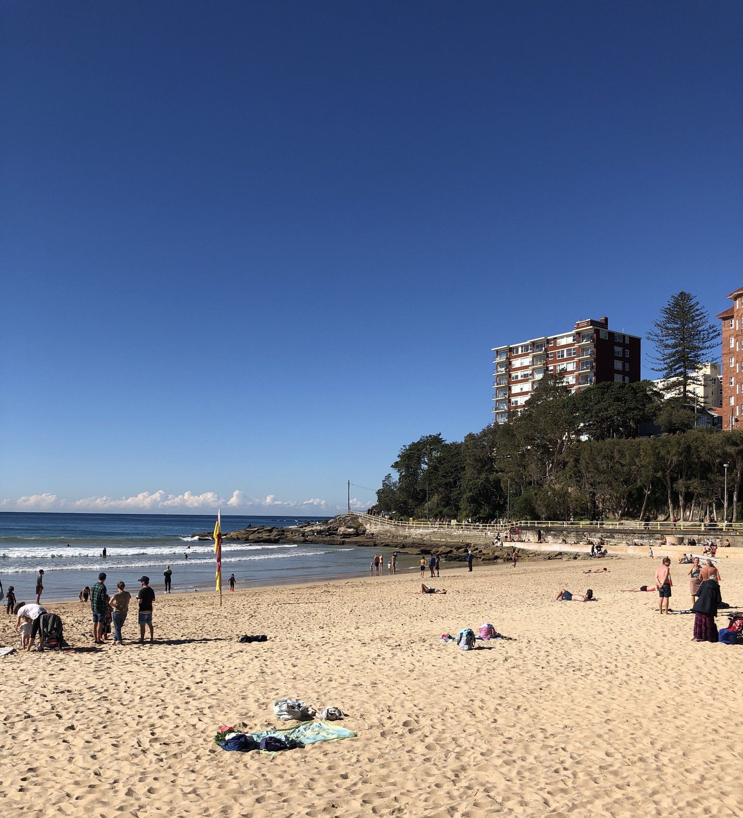 Manly Beach in mid winter.