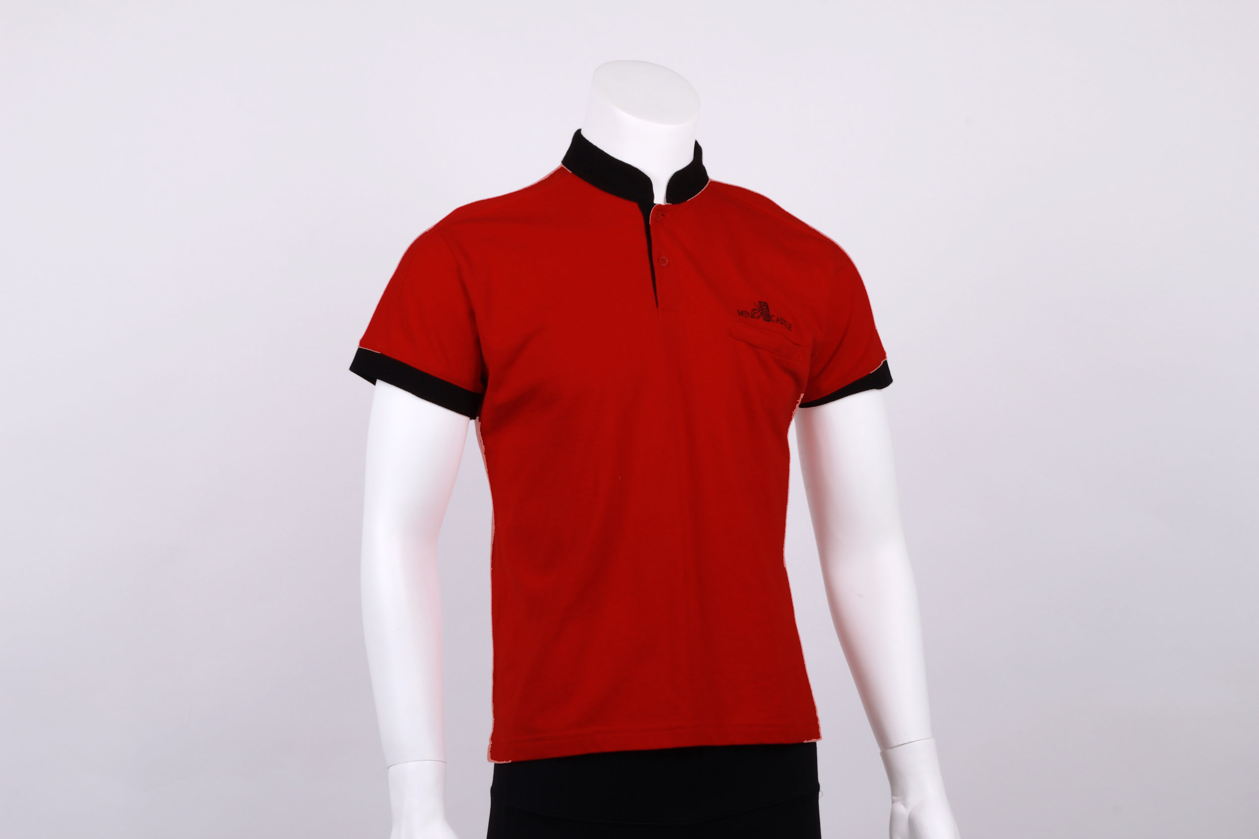 Mandarin Collar Polo Tee