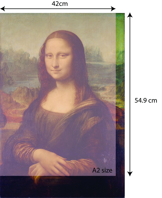 Since it does not fit into an A2 dimension (42cm x 54.9cm),