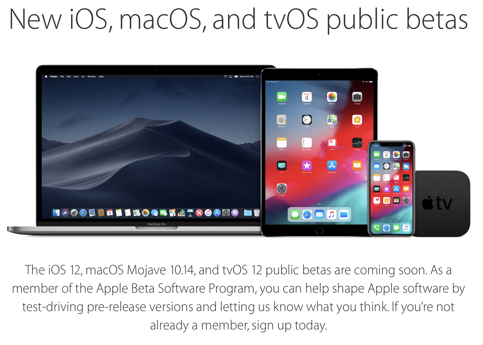 """Apple calls is beta releases """"pre-release versions"""" for good reason!"""