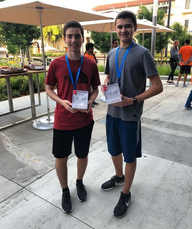 WWDC scholarship winners Nicholas Grana and John Wahlig, at yesterday's  Nike Run Club event