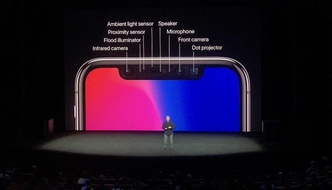 VCSELs are a component of the TrueDepth sensor array used by Face ID