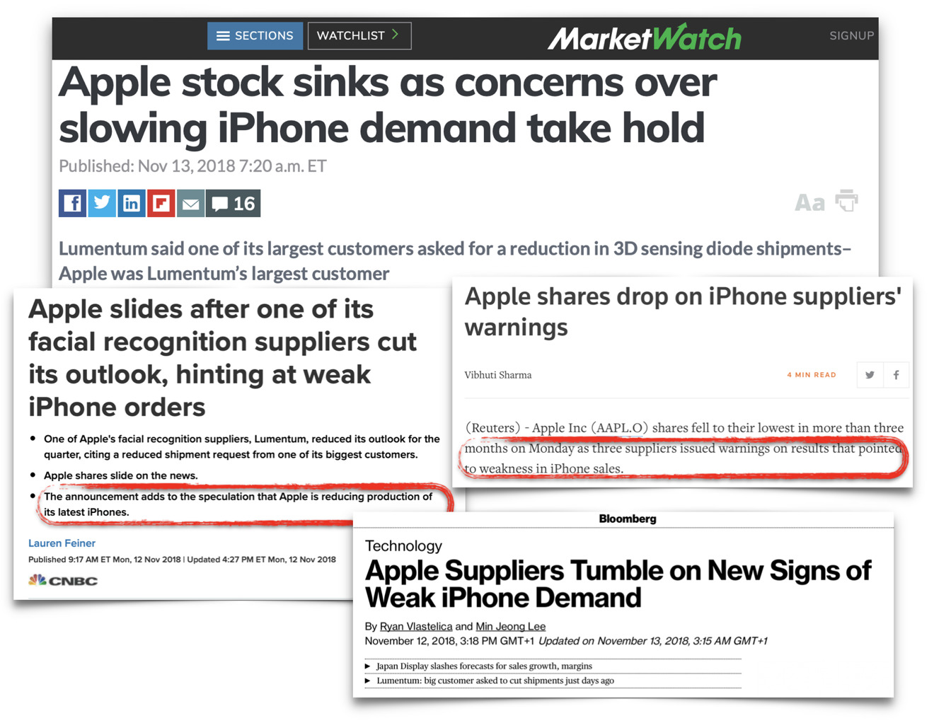 After Apple spelled out what was happening to the media, major news sites dribbled out idiot-level speculation instead