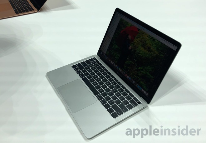 MacBook Air on display at Apple's October reveal