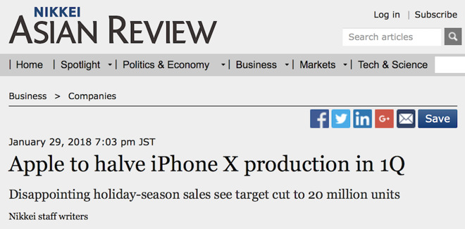 Nikkei has repeatedly staked its reputation on the idea that iPhones are failing
