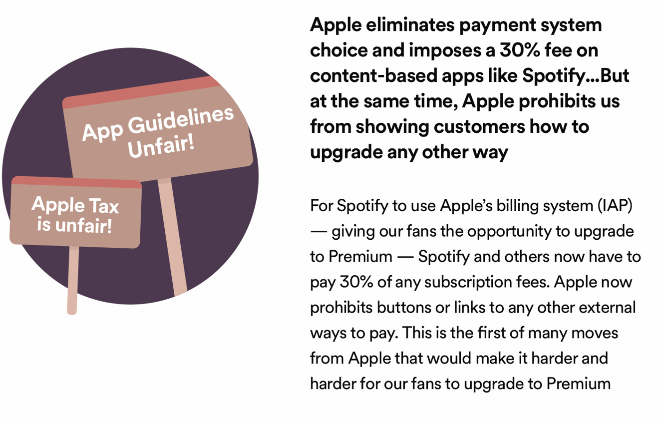 Spotify claims Apple owes it free, unrestricted access to the App Store
