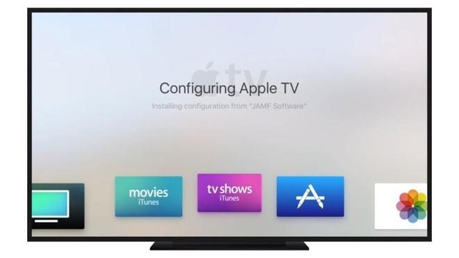 Apple TV uniquely supports enterprise management tools