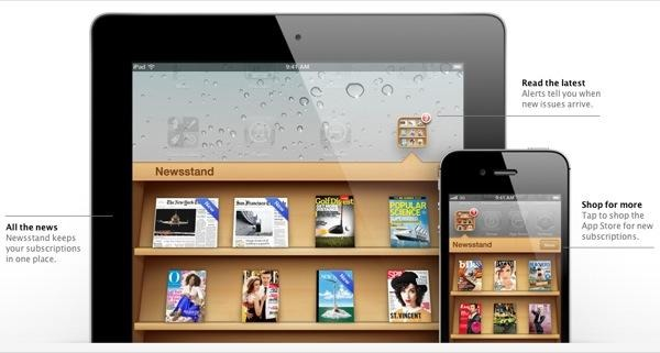 Newsstand attempted to draw attention to periodical-based app subscriptions, but most weren't designed well
