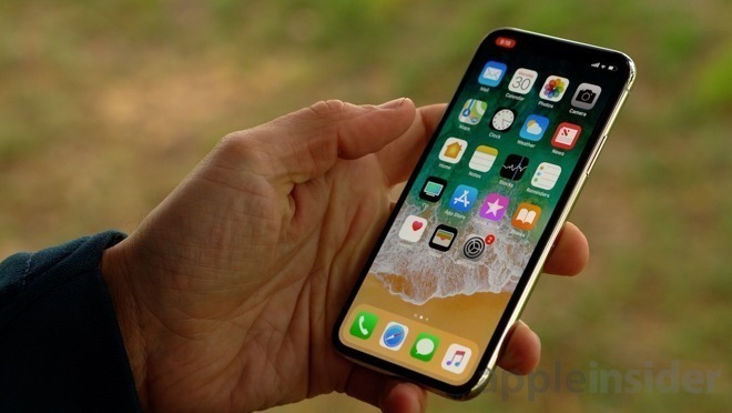 iPhone X used Samsung's OLED display