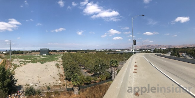 Located next to the San Jose airport, Apple has virtually all the land you can see left of the highway. It's already permitted for massive development.