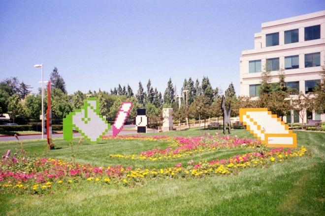 Apple's Sculpture Garden. Source:  512 Pixels