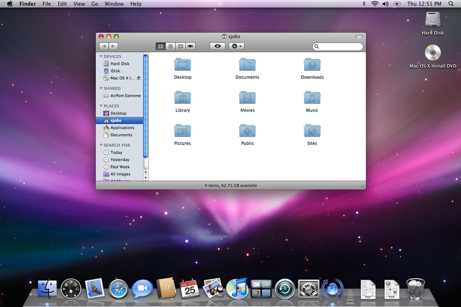 macOS 10.5 Leopard in 2007