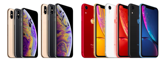 Apple differentiated its iPhone XS and iPhone XR models using color