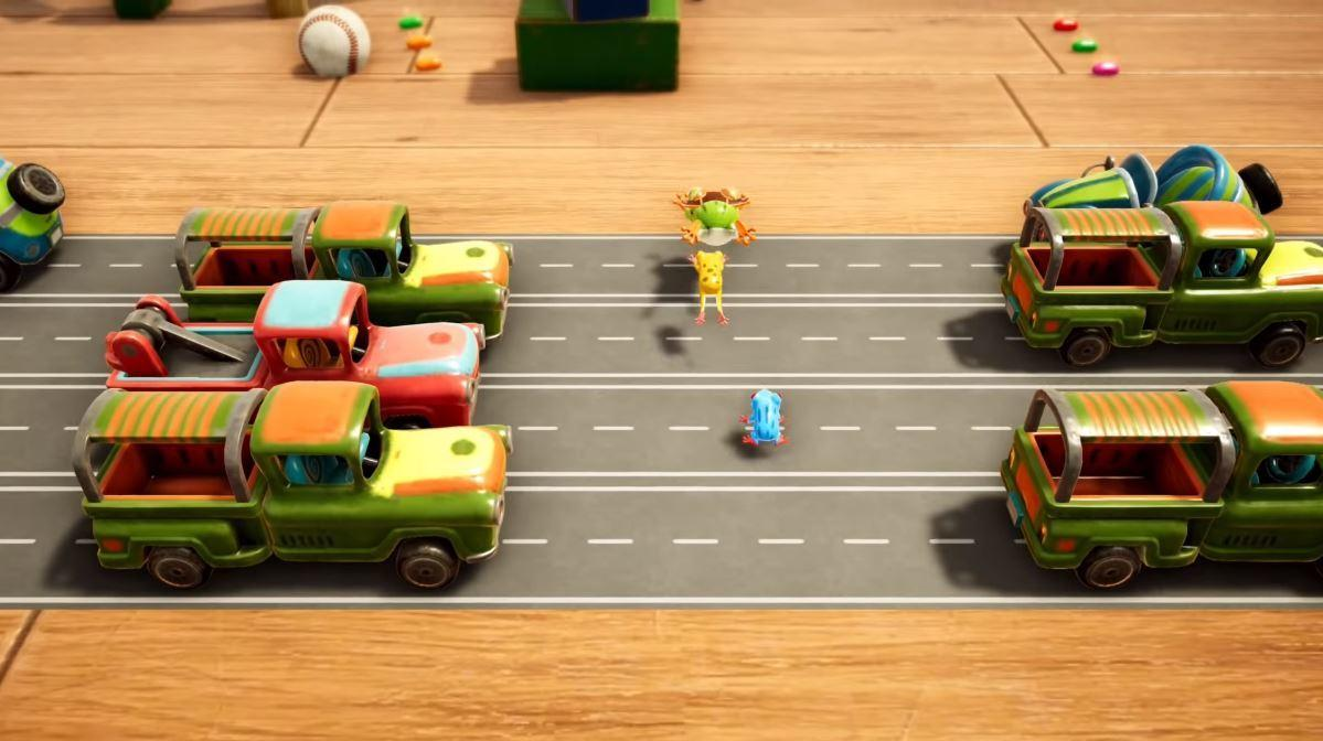 Konami's updated classic  Frogger In Toy Town