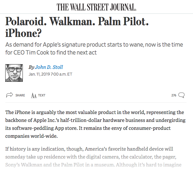 A newspaper is offering Apple advice on how to remain relevant and stay in business