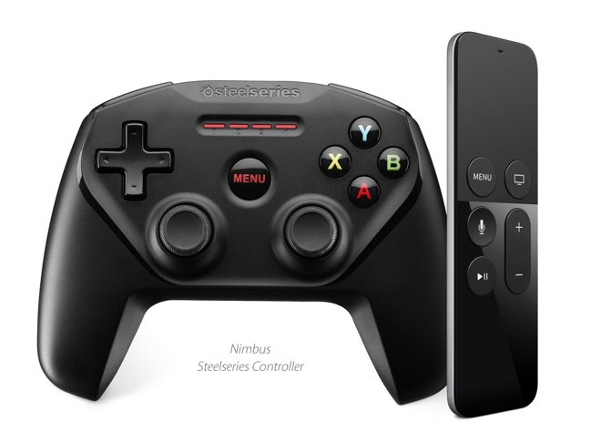Apple TV could bundle a controller like the SteelSeries Nimbus