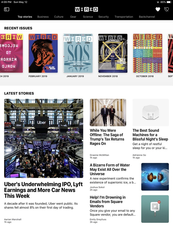 In Apple News,  Wired  is presented as a valuable product you can subscribe to.