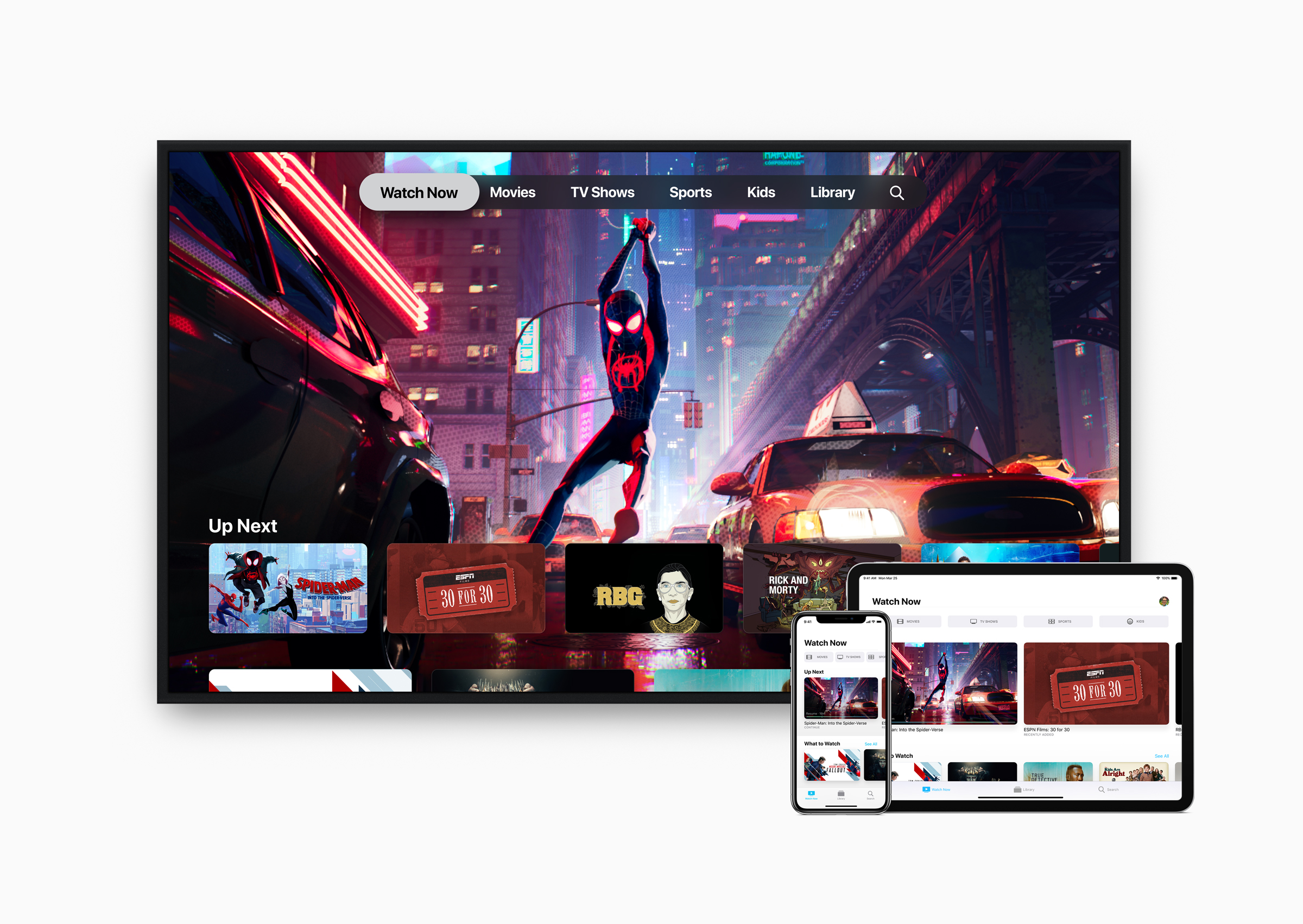 The Apple TV app lets viewers subscribe to Channels, and soon, TV+