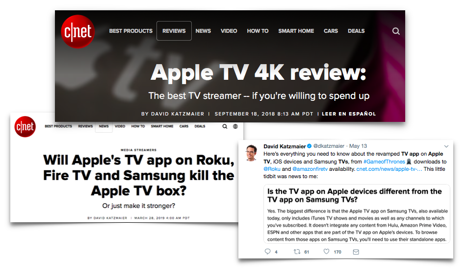 David Katzmaier of  CNET  revealed an incremental awakening to Apple's TV strategy that took him months to put together.