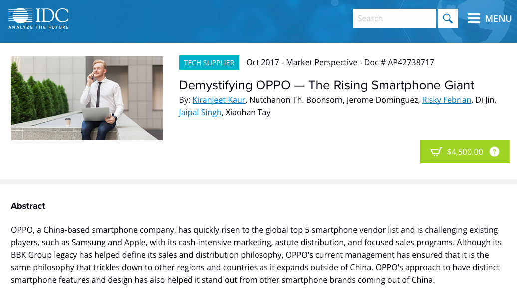 How time flies: Oppo was the Rising Smartphone Giant of late 2017